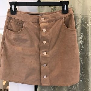 Express suede miniskirt